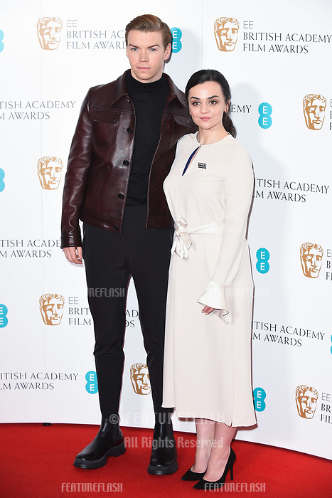 LONDON, UK. January 09, 2019: Will Poulter &amp; Hayley Squires at the announcement of the nominations for the BAFTA Film Awards 2019 London.<br /> Picture: Steve Vas/Featureflash