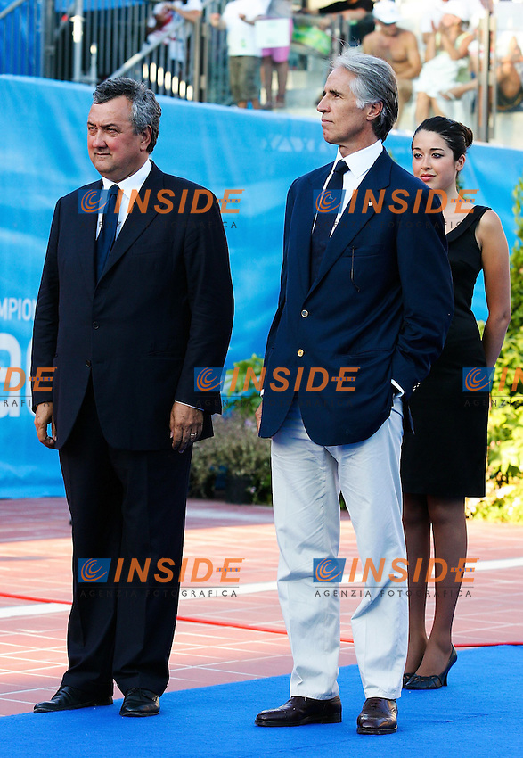 Roma 29th July 2009 - 13th Fina World Championships .From 17th to 2nd August 2009.Prize Giving - Paolo Barelli e Giovanni Malago'.photo: Roma2009.com/InsideFoto/SeaSee.com