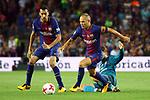 Supercopa de Espa&ntilde;a - Ida.<br /> FC Barcelona vs R. Madrid: 1-3.<br /> Sergio Busquets, Andres Iniesta &amp; Kovacic.