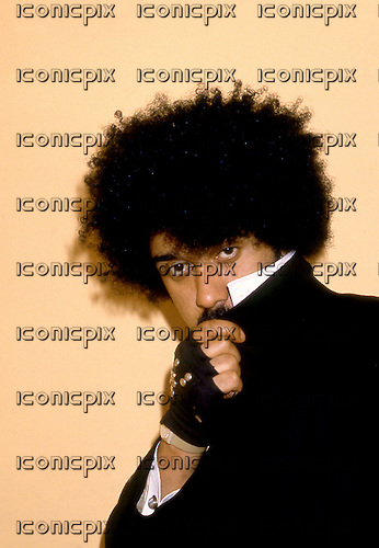 Thin Lizzy - Phil Lynott (died on 04 Jan,1986) - exclusively photographed in his last ever photosession in London UK - 13 Nov 1985.  Photo credit: George Chin/IconicPix
