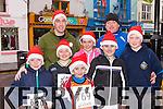 Glenflesk runners at the Killarney Jingle run on Sunday were l-r: Jamie Moynihan, Stephen Moynihan, Cormac Tangney, Maeve Tangney and Dara Tan gney. Back l-r: Declan Tangney, Sean Moynihan and Eoin Moynihan