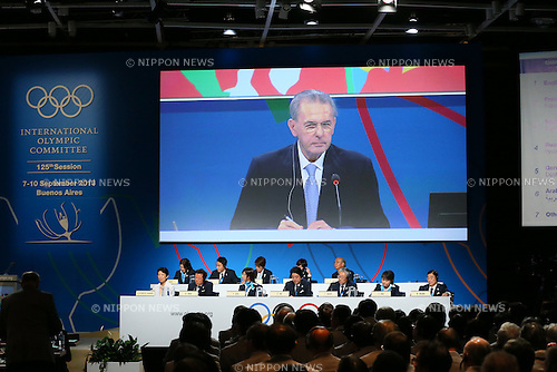 Jacques Rogge, <br /> SEPTEMBER 7, 2013 : <br /> the 2020 Summer Olympic Games bid fianl presentation during the 125th International Olympic Committee (IOC) session in Buenos Aires Argentina, on Saturday September 7, 2013. <br /> (Photo by YUTAKA/AFLO SPORT) [1040]