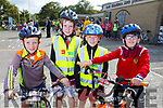 Sean Lyne, Eamon and Eoghan Wiseman and Rory Clifford ready for road at the Ardfert Kids Cycle at the School on Sunday morning.