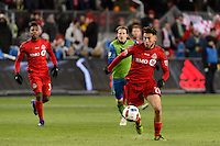 Toronto, ON, Canada - Saturday Dec. 10, 2016: Jonathan Osorio during the MLS Cup finals at BMO Field. The Seattle Sounders FC defeated Toronto FC on penalty kicks after playing a scoreless game.