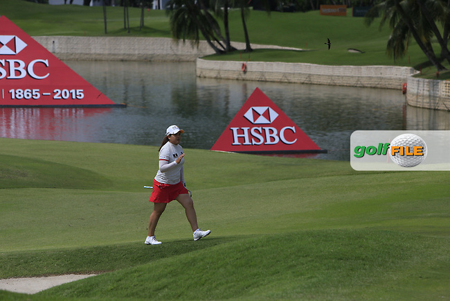 Inbee Park (KOR) on the 18th fairway during Round 3 of the HSBC Women's Champions at the Sentosa Golf Club, The Serapong Course in Singapore on Saturday 7th March 2015.<br /> Picture:  Thos Caffrey / www.golffile.ie