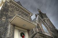 Season's greeting from Central United Church on George Street at Brock Street, Sarnia, Ontario.