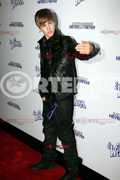 Justin Bieber attends the New York premiere of 'Justin Bieber: Never Say Never' at Regal E-Walk 13 on February 2, 2011 in New York City on February 2, 2011  &copy; Star Shooter / MediaPunchInc *NortePhoto.com*<br /> **SOLO*VENTA*EN*MEXICO**