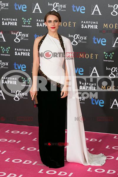 Aura Garrido attend the 2015 Goya Awards at Auditorium Hotel, Madrid,  Spain. February 07, 2015.(ALTERPHOTOS/)Carlos Dafonte) /NORTEphoto.com