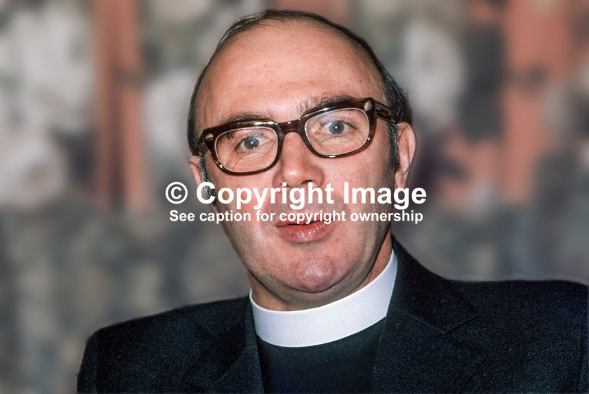 Canon William Arlow, Church of Ireland clergman, who, along with other Protestant churchmen, met 6 members of the Provisional IRA army council in Feakle, Co Clare, in an attempt to secure a permanent ceasefire. May 1975. 197505260523WA5..Copyright Image from Victor Patterson, 54 Dorchester Park, Belfast, UK, BT9 6RJ..Tel: +44 28 9066 1296.Mob: +44 7802 353836.Voicemail +44 20 8816 7153.Skype: victorpattersonbelfast.Email: victorpatterson@mac.com.Email: victorpatterson@ireland.com (back-up)..IMPORTANT: If you wish to use this image or any other of my images please go to www.victorpatterson.com and click on the Terms & Conditions. Then contact me by email or phone with the reference number(s) of the image(s) concerned.