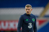 James McClean during Republic of Ireland training ahead of the World Cup Qualification match against Wales at Cardiff City Stadium, Cardiff, Wales on 8 October 2017. Photo by Mark  Hawkins.