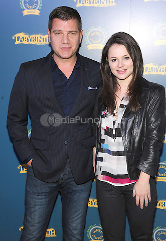 New York, NY- October 23:  Tom Murro and Sasha Cohen attend the Labyrinth Theater Company Celebrity Charades 2014:Judgment Day at Capitale on October 27, 2014 in New York City. Credit: John Palmer/MediaPunch