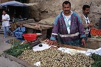 Fez, Morocco - Berry Vendor, Bab El-Mahrouk Fruit and Vegetable Market, Old Fez.