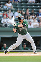 First baseman Skyler Ewing (25) of the Augusta GreenJackets bats in a game against the Greenville Drive on Opening Day, Thursday, April 9, 2015, at Fluor Field at the West End in Greenville, South Carolina. Greenville won, 3-2. (Tom Priddy/Four Seam Images)