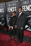 Pauletta Washington and Denzel Washington attends the 'Fences' New York screening at Rose Theater, Jazz at Lincoln Center on December 19, 2016 in New York City.