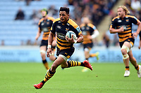 Juan De Jongh of Wasps goes on the attack. Gallagher Premiership match, between Wasps and Leicester Tigers on September 16, 2018 at the Ricoh Arena in Coventry, England. Photo by: Patrick Khachfe / JMP