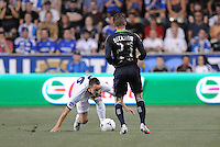 Chelsea FC defender John Terry (26) goes against MLS All-Stars midfielder David Beckham (23) The MLS All Stars Team defeated Chelsea FC 3-2 at PPL Park Stadium, Wednesday 25, 2012.