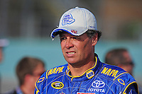 Nov. 20, 2009; Homestead, FL, USA; NASCAR Sprint Cup Series driver Michael Waltrip during qualifying for the Ford 400 at Homestead Miami Speedway. Mandatory Credit: Mark J. Rebilas-