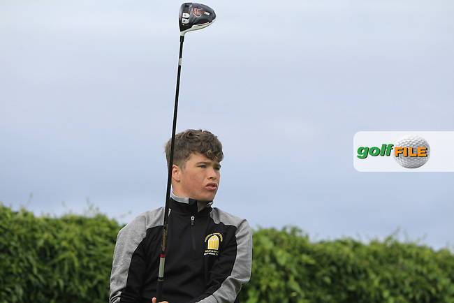 Jack Tuohy (Galway Bay) on the 5th tee during Round 3 of the 2016 Connacht U18 Boys Open, played at Galway Golf Club, Galway, Galway, Ireland. 07/07/2016. <br /> Picture: Thos Caffrey | Golffile<br /> <br /> All photos usage must carry mandatory copyright credit   (&copy; Golffile | Thos Caffrey)