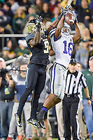Kansas State's Tyler Lockett (16) catches a pass during an NCAA football game, Saturday, December 06, 2014 in Waco, Tex. (Mo Khursheed/TFV Media via AP Images)