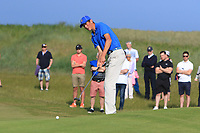 Christo Lamprecht (RSA) on the 17th green during Round 4 of the East of Ireland Amateur Open Championship 2018 at Co. Louth Golf Club, Baltray, Co. Louth on Monday 4th June 2018.<br /> Picture:  Thos Caffrey / Golffile<br /> <br /> All photo usage must carry mandatory copyright credit (&copy; Golffile | Thos Caffrey)