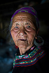 Ethnic Black Hmong tribe woman, Northern Vietnam