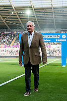 Former rugby player Gareth Edwards ahead of the  Premier League match between Swansea City and Everton played at the Liberty Stadium, Swansea  on September 19th 2015