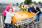 Jaqueline Looney, Laura Wickham, Cyril Wharton, Liam Wharton, Tom Leslie  Ann Marie O'Sullivan at the Car Vintage show in Killarney on Sunday