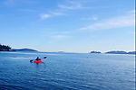 Kayaking in the calm morning waters off Vinalhaven