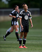 Lianne Sanderson.  The D.C. United Women defeated the Charlotte Lady Eagles, 3-0, to win the W-League Eastern Conference Championship.