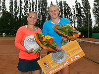 August 17, 2014, Netherlands, Raalte, TV Ramele, Tennis, National Championships, NRTK, Womans Final :  Nicole Thijssen/Mandy Wagemakers (R)(NED)  at the prize giving  Photo: Tennisimages/Henk Koster