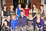 Staff from the Shalleigh in St Mary's of the Angels having a well deserve break at their Christmas party in the Brehon Hotel on Friday night was front row l-r: Mary O'Sullivan, Eileen O'Mahony, Wayne Young, Mary Hickey, Noreen McGillicuddy. Back row: Louise McGillicuddy, Maria Hegarty, Linda Courtney, Denise Dennehy, Marguerite Crowley and Bernie O'Shea.
