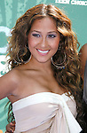 Adrienne Bailon of The Cheetah Girls arrives at the 2008 Teen Choice Awards at the Gibson Amphitheater on August 3, 2008 in Universal City, California.
