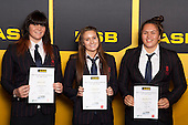 Girls Water Polo finalists Rebecca Parkes, Chelsea Geary and Pinky Rewi-Henry. ASB College Sport Young Sportsperson of the Year Awards held at Eden Park, Auckland, on November 24th 2011.