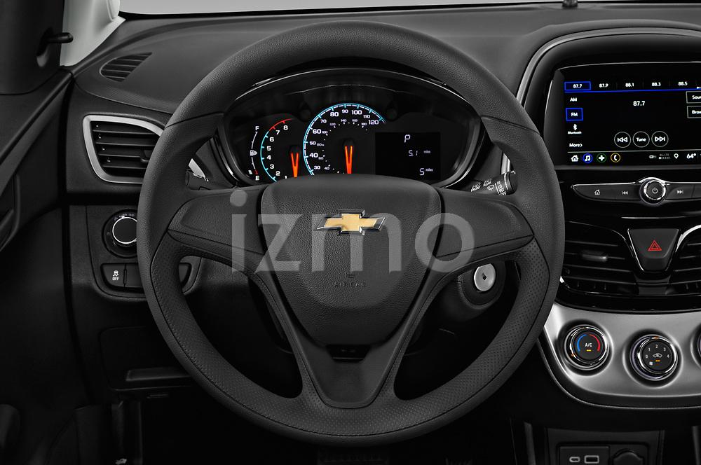Car pictures of steering wheel view of a 2019 Chevrolet Spark LS Select Doors Door Hatchback