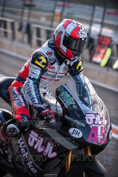 Tetsuta Nagashima in pit line at pre season winter test IRTA Moto3 & Moto2 at Ricardo Tormo circuit in Valencia (Spain), 11-12-13 February 2014
