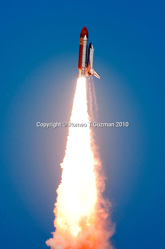 May 14, 2010:  Space Shuttle Atlantis STS-132 lifts off from Pad 39A on its final mission to the International Space Station. The 6 person crew will be delivering Russian-built Mini Research Module-1, also known as Rassvet. Kennedy Space Center, FL.