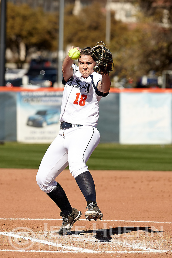 SAN ANTONIO, TX - FEBRUARY 24, 2017: The University of Texas at San Antonio Roadrunners defeat the New Mexico University Lobos 1-0 at UTSA Roadrunner Field. (Photo by Jeff Huehn)