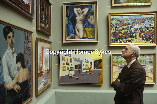 The Royal Academy Summer Exhibition, London U.K. Circa 1985