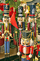 Christmas decorations of little drummer boys-nutcracker. Al's Nursery. Woodburn. Oregon