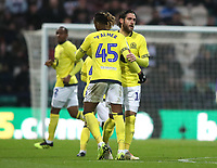 Blackburn Rovers' Danny Graham celebrates scoring his sides first goal with his fellow team mates <br /> <br /> Photographer Rachel Holborn/CameraSport<br /> <br /> The EFL Sky Bet Championship - Preston North End v Blackburn Rovers - Saturday 24th November 2018 - Deepdale Stadium - Preston<br /> <br /> World Copyright &copy; 2018 CameraSport. All rights reserved. 43 Linden Ave. Countesthorpe. Leicester. England. LE8 5PG - Tel: +44 (0) 116 277 4147 - admin@camerasport.com - www.camerasport.com