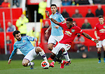 Bernardo Silva of Manchester City tackled by Fred of Manchester United during the Premier League match at Old Trafford, Manchester. Picture date: 8th March 2020. Picture credit should read: Darren Staples/Sportimage
