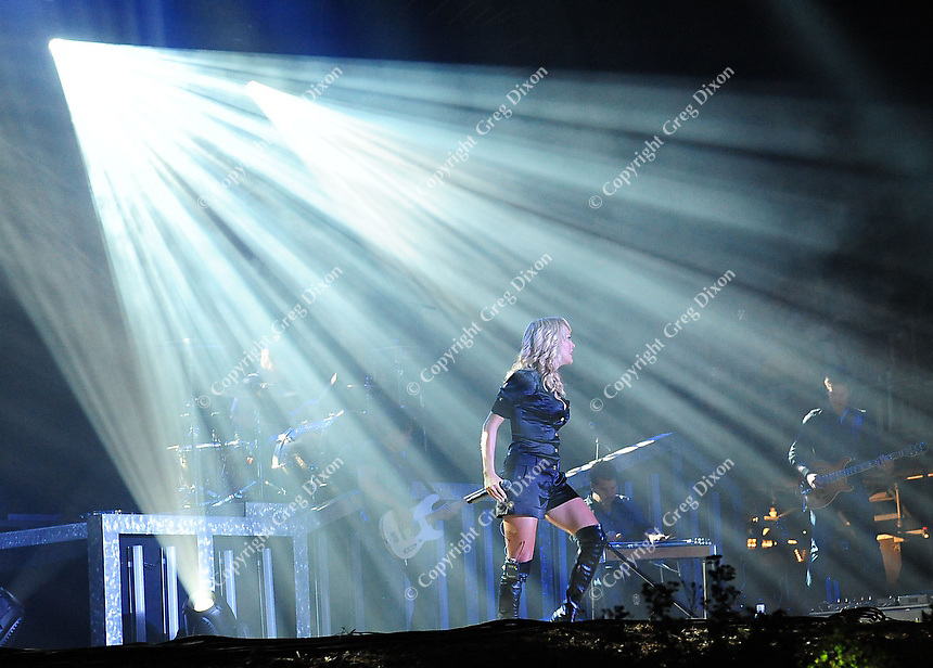 Carrie Underwood sings at Country Thunder USA in Twin Lakes, Wisconsin