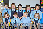 Enjoying their first day at school in Breda McGaley's class in Currow NS on Friday was front row l-r: Aisling O'Neill, Joshua Ryan, Anthony O'Connor and Lauren Coffey. Back row: Anthony Galvin, Amber Fleming, Katie Conway, Amy O'Sullivan and Daniel McCarthy..