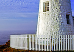The base of Pemaquid Light which is on Pemaquid Point in Pemaquid, ME