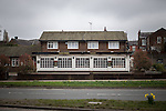 "© Joel Goodman - 07973 332324 . 14/03/2014 . White Horse Pub , Gilda Brook Road , Eccles M30 0DX , UK . GV General View of the pub . Landlady Bernadette "" Babs "" Harvieu (52 , correct) is unable to renew her contract with Robinsons brewery . Photo credit : Joel Goodman"