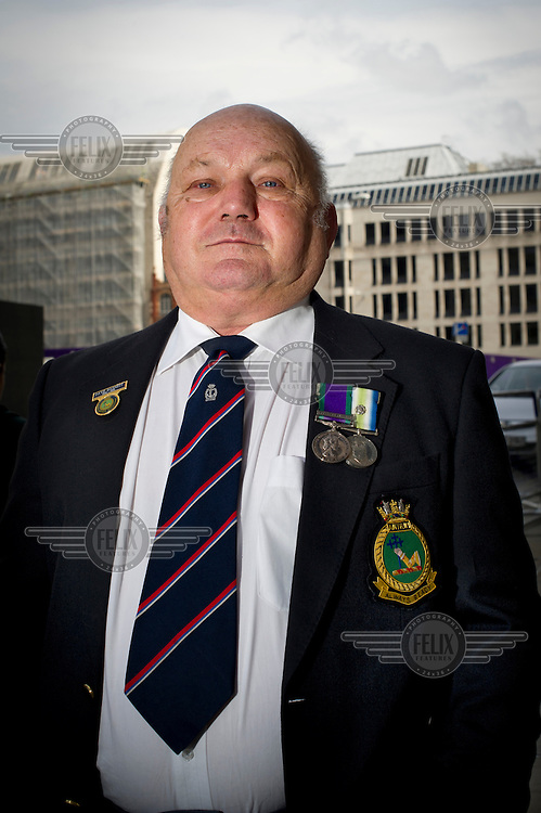 People who lined the streets of London for the funeral cortege of Margaret Thatcher, former British Prime Minister, who died on 8 April 2013 after suffering a stroke. ..Why did you come here today? ..Dave Basnett (Falklands Veteran): 'I came to pay my respects whether she was right or wrong.' /Felix Features