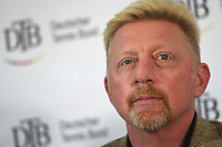 Boris Becker, Head of Men·s Tennis of the German Tennis Federation, partakes in a panel discussion in Ismaning, Germany, 17 October 2017. Becker is counting on a German team with the best players for the first Davis Cup round 2018. Photo: Peter Kneffel/dpa /MediaPunch ***FOR USA ONLY***