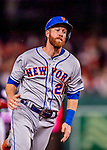 21 September 2018: New York Mets third baseman Todd Frazier in action against the Washington Nationals at Nationals Park in Washington, DC. The Mets defeated the Nationals 4-2 in the second game of their 4-game series. Mandatory Credit: Ed Wolfstein Photo *** RAW (NEF) Image File Available ***