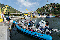 AR_07302016_RIO_HOUSTON_0154.ARW  © Amory Ross / US Sailing Team.  HOUSTON - TEXAS- USA. July 30, 2016. The US Sailing Team moves their boats and equipment from Niteroi, the training center for the past three years, across Guanabara Bay to the new Olympic sailing venue in Rio de Janeiro.