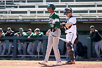 CARY, NC - FEBRUARY 23: Cody Bey #28 of Wagner College stands at the plate during a game between Wagner and Penn State at Coleman Field at USA Baseball National Training Complex on February 23, 2020 in Cary, North Carolina.